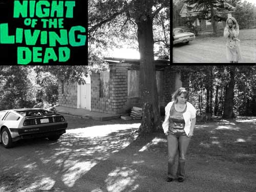 """16506 & Jenette at the Evans City Cemetery, PA where parts of the classic  movie """"Night of the Living Dead"""" was filmed."""